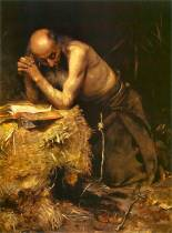 prayer no copryight Teodor Axentowicz (1859–1938) the anchorite