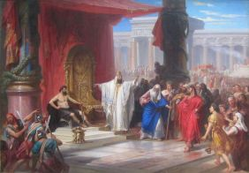 king solomon and the iraon worker no copyright Painter Christian Schussele