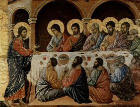 Jesus and the disciples painter Duccio open source
